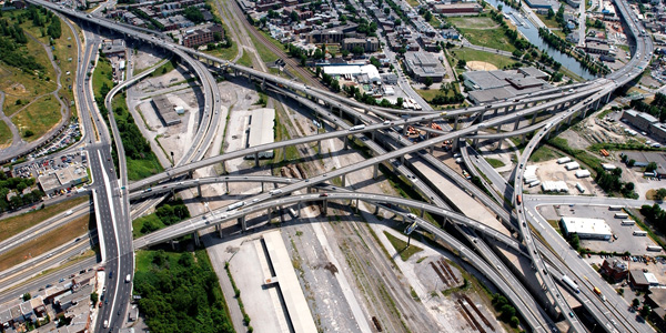 Redevelopment of Highway Bonaventure into an urban boulevard, Montreal, Canada